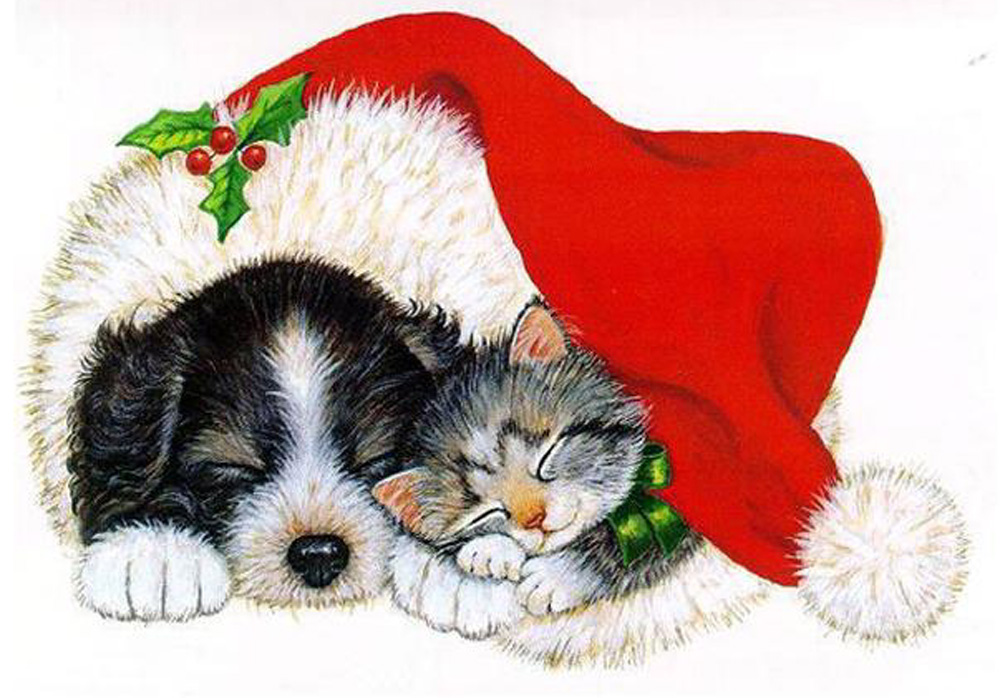 free christmas clip art with dogs - photo #17
